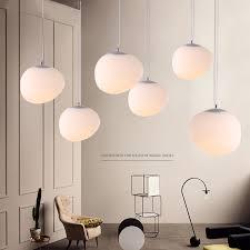 e27nordic globe pendant lights white