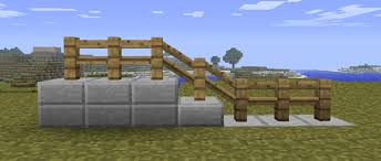 Allow Slanted Fences For Stair Railings Minecraftsuggestions