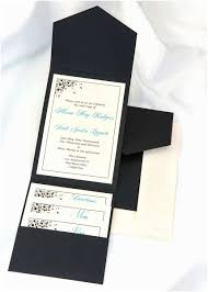 black wedding invitation kits print