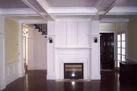 wood trim fireplace traditional