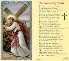 poem the cross in my pocket