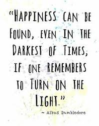 dumbledore harry potter quote wall art print happiness can be