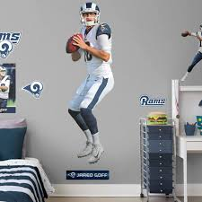 Los Angeles Rams Jared Goff Fathead Life Size Removable Wall Decal