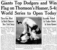 Baseball History: Thomson's 'Shot Heard 'Round the World'