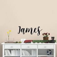 Vinyl Wall Art Decal Boys Custom Name James Custom Text Name 12 Imprinted Designs