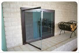 masonry fireplace glass doors free