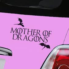 Khaleesi Game Of Thrones Mother Of Dragons House Targaryen Sigil Vinyl Mymonkeysticker Com