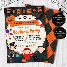 Halloween Invitacion Para Fiesta De Disfraces De Ninos Inlcuye
