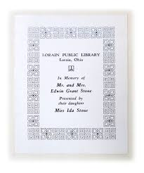 Brady's Bunch of Lorain County Nostalgia: Ida Stone – A Friend of the  Lorain Public Library