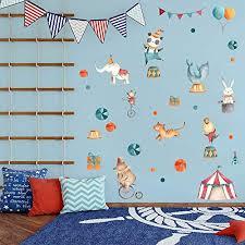 Amazon Com Circus Decals Baby Wall Decals Modern Decor Baby Room Baby Nursery Art Wall Decal Kids Modern Nursery Wall Decal Children Cling Decor Handmade