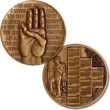 oath calendar medal coin boy scouts