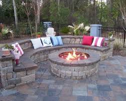 outdoor round patio fire pits