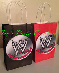 Wwe Personalized Party Favor Goody Bags Cumpleanos Lucha Libre