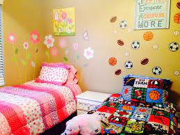 Boy And Girl Shared Rooms With Wall Decals Boy And Girl Shared Room Boy And Girl Shared Bedroom Kids Rooms Shared