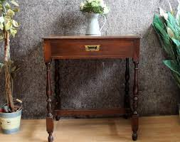 edwardian one drawer inlaid side table