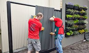 How To Install Colorbond Fence Panels Bunnings Warehouse