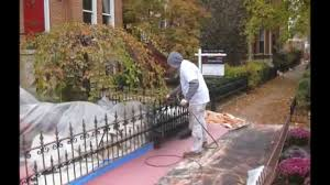 Chicago Painter Wrought Iron Fences And Porches Painting Spring 2013 Projects Youtube
