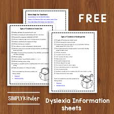 sign and symptoms of dyslexia a
