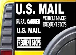 Amazon Com Ez Stik U S Mail Carrier 5 Decal Value Pack M154 Sticker Mail Rural Carrier Automotive