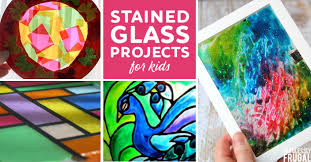 stained glass art projects for kids