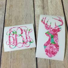 Monogram And Deer Head Decals For Your Yeti Yeti Cooler Yeti Etsy