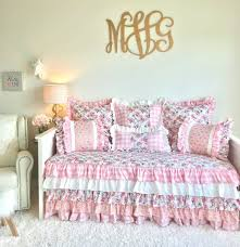 white vintage roses daybed bedding