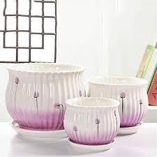 purple lavender flower ceramic