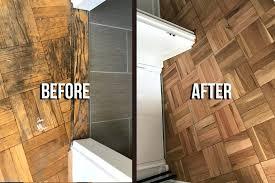 best way to refinish parquet flooring