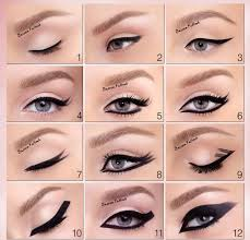 how to put makeup for big eyes