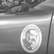 St Padre Pio Car Decal The Catholic Gift Store