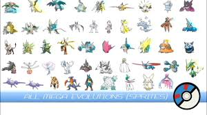All Mega Evolutions (Animated Sprites) メガシンカ - YouTube