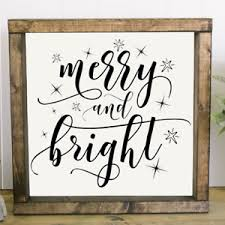 Merry Bright Vinyl Decal For Sign Make Your Own Rustic Sign Christmas Decals Ebay