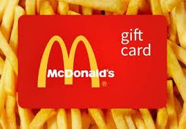 mcdonald s gift card free 100
