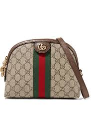 gucci ophidia leather trimmed printed
