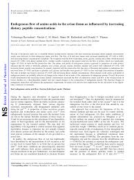 pdf endogenous flow of amino acids in