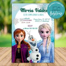 Invitaciones De Cumpleanos De Disney Frozen Ii Bobotemp