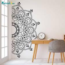 Mandala Vinyl Wall Sticker Lotus Flower Yoga Wall Decals Indian Bedroom Yoga Studio Boho Moroccan Bohemian Bedding Wall Art B934 Wall Stickers Aliexpress