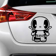 Lovely Deadpool Car Stickers Creative Vinyl Sticker On Car Stickers And Decals Window Sticker Car Styling Decal Car Stickers Aliexpress