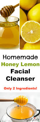 homemade lemon cleanser with honey