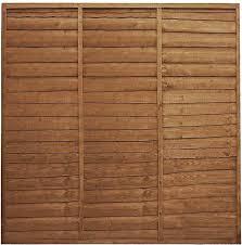 Waltons Wooden Fence Panels 5x6 Horizontal Overlap Fencing Pressure Treated 5 X 6 5ft X 6ft Amazon Co Uk Diy Tools