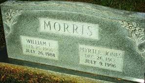 Willie Myrtle Morris (Jones) (1912 - c.1996) - Genealogy