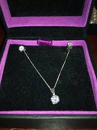 h samuel diamond necklace with earrings