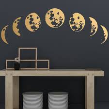 Moon Phases Wall Decals Moon Phases Decor Modern Decals Etsy Moon Wall Decal Modern Decals Moon Wall Art