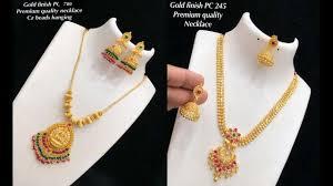 arrival one gram gold necklace design