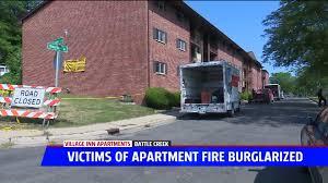 Residents report items stolen a week after Battle Creek apartment fire