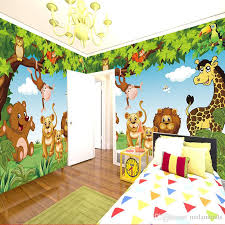 Cartoon Wall Mural Forest Animals Animation Children Room 3d Mural For Kids Room Boy Girl Bedroom Wallpaper Custom Any Size Wallpapers Hd Widescreen High Quality Desktop Wallpapers High Definition From Molamurals 38 9 Dhgate Com