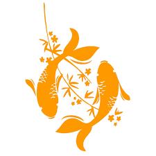 Large 2 Feet Long Pieces Zodiak Elegant Koi Fish Asian Decal Window Decal Diy Craft Project Outdoor Kitchen Dec Koi Art Koi Fish Drawing Fish Silhouette