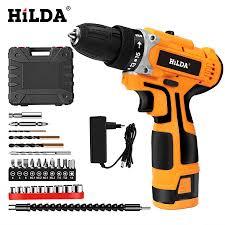 HILDA 16.8V Máy Khoan Điện Sạc Pin Lithium thuật Điện Máy Bắt Vít Không Dây  Hai tốc độ Dụng Cụ Điện|