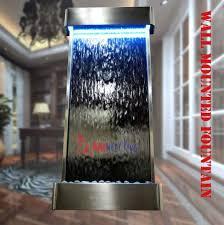 wall mounted indoor waterfall fountain