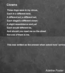 Clowns Poem by Adeline Foster - Poem Hunter Comments